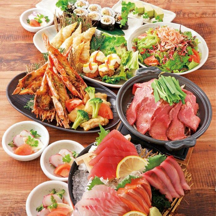 【雅(みやび)の宴】刺身、牛タンなど多彩な料理が自慢のコース