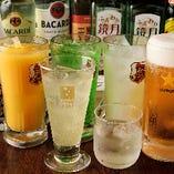 飲み放題は約75品からご注文いただけます!