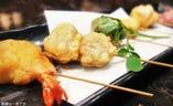 串天ぷら「おまかせ三種盛」