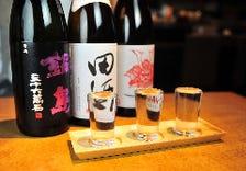 【日本酒3種飲み比べ1000円】