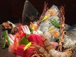 天然魚100%!量が多めな、お刺身盛り合わせ!