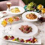 団体様向けパーティーコースはスタンダードに美味しい料理を!