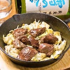 牛ハラミの鉄鍋焼き
