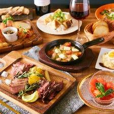 自慢の極上肉料理×贅沢なチーズ料理