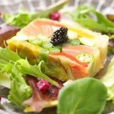 道産旬食材を使用したコース料理