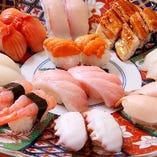 職人技が織り成す繊細な握り寿司。
