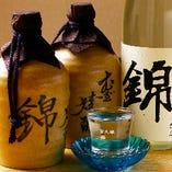 千代の亀「錦」 純米大吟醸(愛媛県)などオリジナルの日本酒、焼酎もご用意。