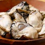 牡蠣 とても大きくて張りの有る身が絶品。