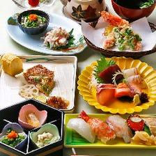 〆は握り。自慢の鮮魚を贅沢に堪能!