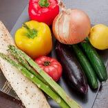 大阪の地野菜をはじめ、旬の野菜をご用意