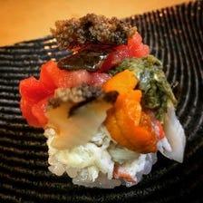 カウンター鮨コース【堪能】12,000円 つまみと鮨で20品以上