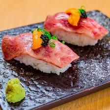 【肉寿司】特選黒毛和牛ロース×雲丹