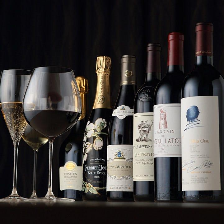 厳選した単一品種のワインが勢ぞろい
