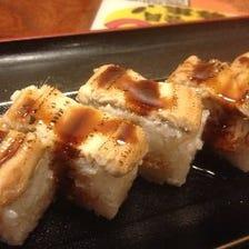 あんきも入り穴子の棒寿司