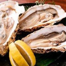 鉄では、一年中牡蠣が食べれます。