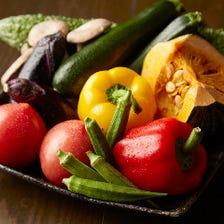 武蔵野の野菜を使った創作料理が自慢