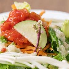 野菜サラダ(自家製ドレッシングがけ)