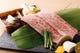 和牛の三角バラを芽ネギと自家製泡醤油でいただく創作焼肉