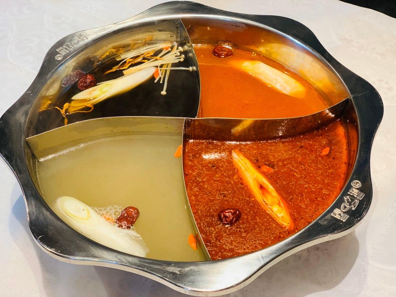 4種類あるスープの中から選べる