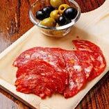 ナポリ産イタリアンサラミ&スペイン産ライプオリーブ