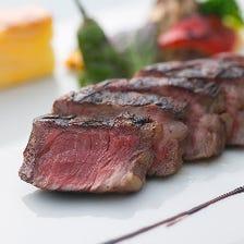 赤ワインには相性抜群の和牛ステーキを