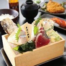 毎日豊洲から仕入れる新鮮な魚介類
