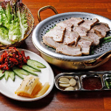 ボリューム満点の韓国料理