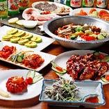 本場韓国に負けない味の料理が100種類以上!