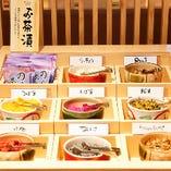 串揚げの合間にインターバル♪お茶漬けも人気です。