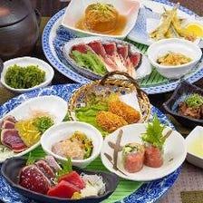 一人皿鉢【大漁】贅沢!冬の味覚大漁コース4,500円(税込)