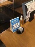 ◆各テーブルにアルコール消毒スプレーを設置◆