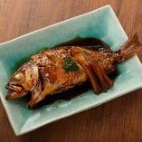 季節の魚の煮つけ