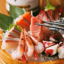 豊洲より直送された新鮮魚介