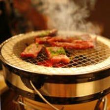 ◆本格的な炭火七輪焼肉