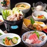 ◆コース料理の取り分け、各自小皿での提供