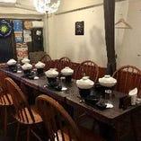 2階テーブル席:1日1組限定!今なら2名様~貸切OK!完全個室でご利用いただけます!