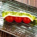 焼きチーズトマト串