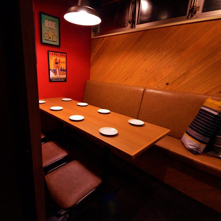 少人数での飲み会に人気の個室あり