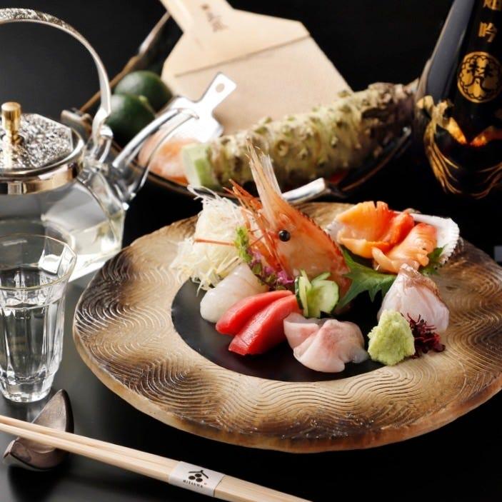 豊洲直送の鮮魚を贅沢に使用した料理