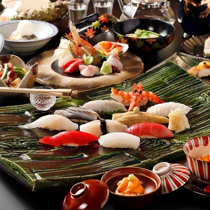 江戸前寿司を堪能する季節のコース