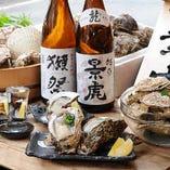 牡蠣と日本酒。 鉄板ですな!