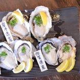 牡蠣食べ比べ!産地、銘柄は日替わりで!