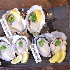 産地別食べ比べ 生牡蠣3種盛り合わせ