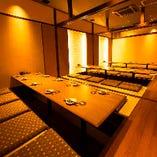 掘り炬燵個室で接待も可能な贅沢なデザイナーズ空間