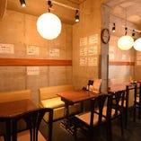 和風の提灯がマッチしたお洒落な空間で本格創作和食料理を。
