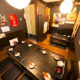 12名様までご利用可能のお座敷。小宴会や部署会に最適!