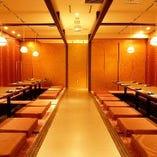 36名様までのご宴会に最適な完全個室のお席です。