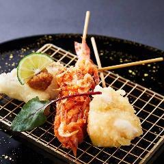天ぷら串3種盛り合わせ