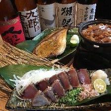 豊富な日本酒を飲み放題で!