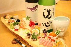 串と魚 木木の飯